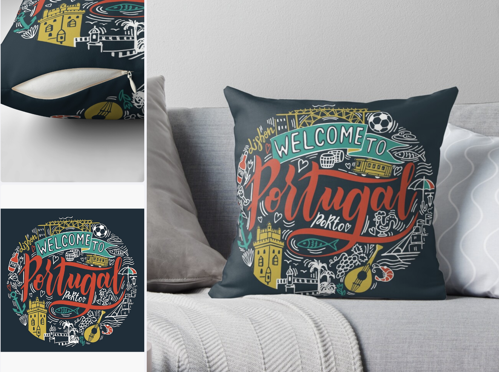 "Pillow Case ""Welcome to Portugal"""